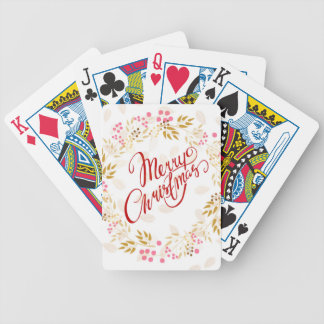 Merry Cristmas Wreath Bicycle Playing Cards