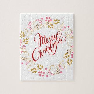 Merry Cristmas Wreath Jigsaw Puzzle