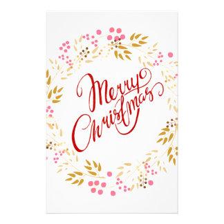 Merry Cristmas Wreath Stationery