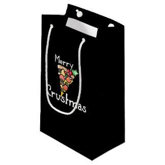 Merry Crustmas Pizza Christmas Small Gift Bag