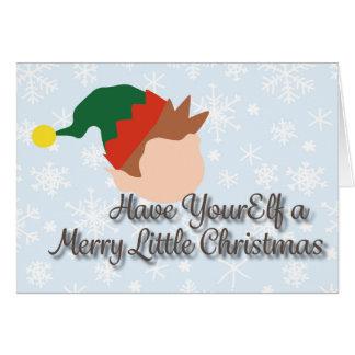 Merry Elf Greeting Card