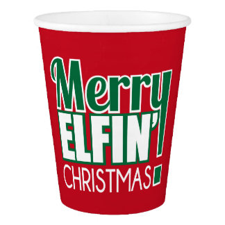 Merry Elfin Christmas Cups