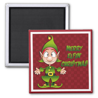 Merry Elfin' Christmas Magnet