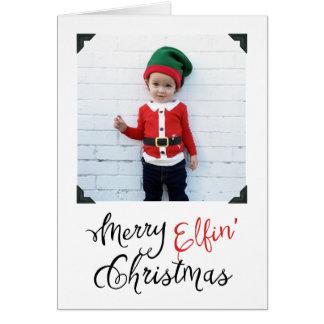Merry Elfin' Christmas Photo Greeting Card