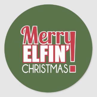 Merry Elfin Christmas Sticker
