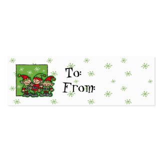 Merry Elves Custom Christmas Gift Tags Business Card
