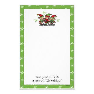 Merry Elves Custom Christmas Stationery