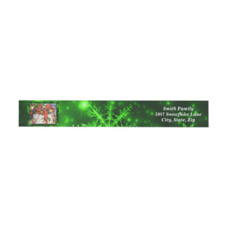 Merry Elves Wrapping Present Around Address Labels Wraparound Address Label