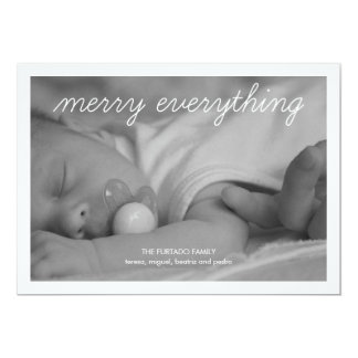 Merry Everything Baby Christmas Photo Holiday Flat 13 Cm X 18 Cm Invitation Card