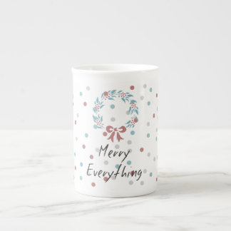 Merry Everything Holiday dotted Cup Bone China Mug