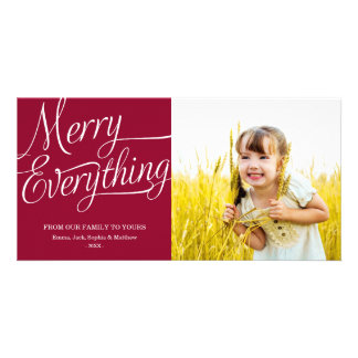 MERRY EVERYTHING HOLIDAY PHOTO CARD