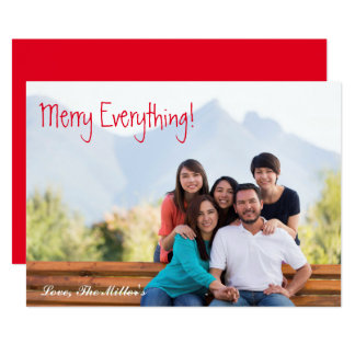 Merry Everything! Photo Card | Simple & Chic