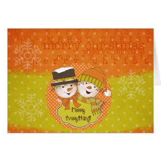 Merry Everything Snowmen Holiday Greeting Card