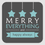 Merry Everything Square Stickers