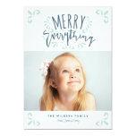 Merry Everything Trendy Photo Greeting 13 Cm X 18 Cm Invitation Card