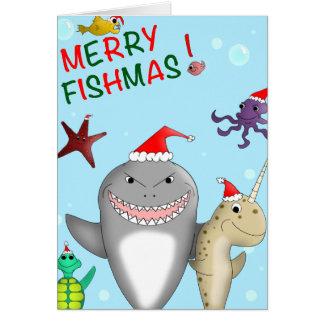 Merry Fishmas Christmas Card
