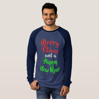Merry Fitmas and a Happy New Rear T-Shirt