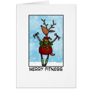 Merry Fitness Reindeer Card