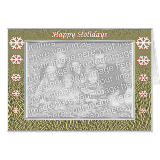 Merry Flakes (photo frame) Greeting Card