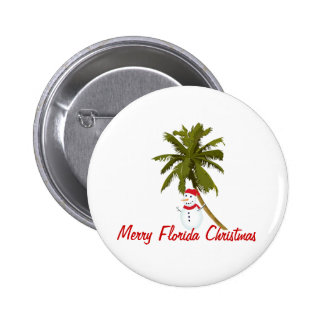 Merry Florida Christmas Buttons