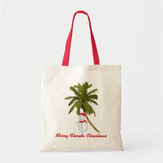 Merry Florida Christmas Canvas Bags