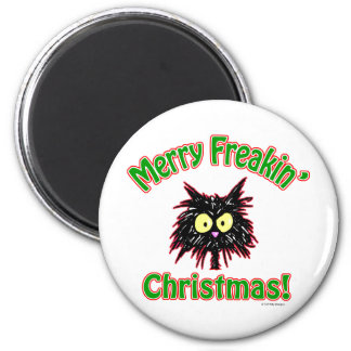 Merry Freakin' Christmas Refrigerator Magnet