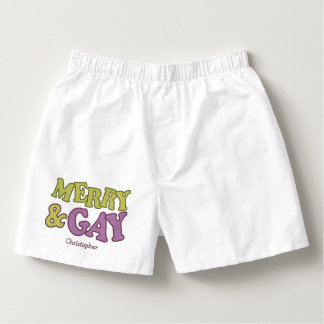Merry & Gay custom name boxers