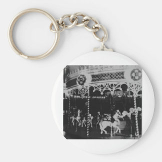 Merry Go Round Basic Round Button Key Ring