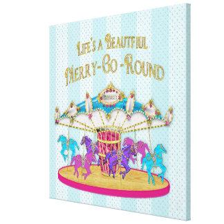 Merry-Go-Round Canvas Print  - Carousel