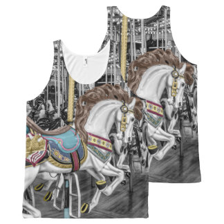Merry Go Round Carousel All-Over Print Singlet