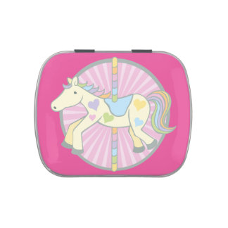 Merry-Go-Round Carousel Pony in Pink Candy Tins