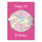 Merry-Go-Round Carousel Pony in Pink Card