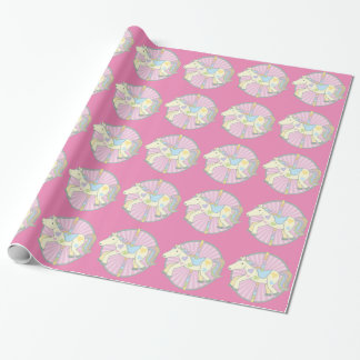 Merry-Go-Round Carousel Pony in Pink Wrapping Paper