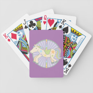 Merry-Go-Round Carousel Pony in Purple Bicycle Playing Cards