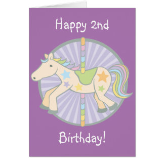 Merry-Go-Round Carousel Pony in Purple Card