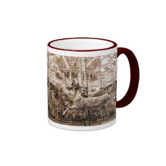 Merry-go-round / Carousel - Sepia Ringer Mug