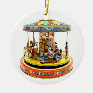 Merry-Go-Round Ceramic Ornament