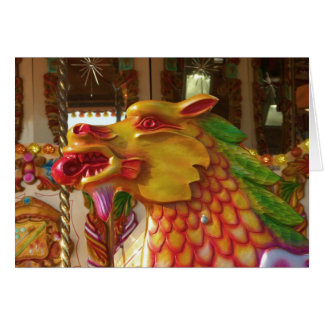 Merry-go-round Dragon Greeting Card