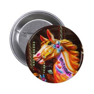 Merry-go-round Horse 6 Cm Round Badge