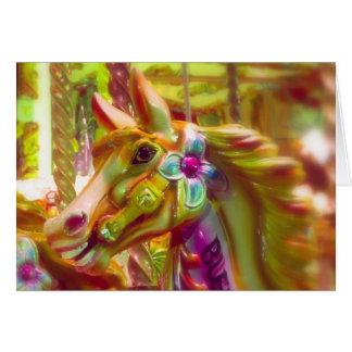 Merry-go-round Horse Card