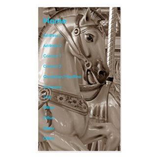 Merry-Go-Round Horse in Sepia Business Cards