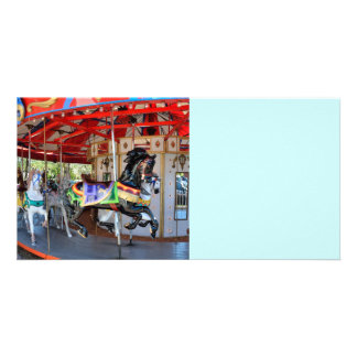 Merry-Go-Round horse Picture Card