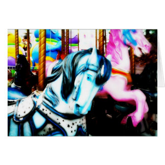 Merry-go-round horses Birthday Card