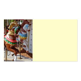 Merry-Go-Round Horses Business Card Templates