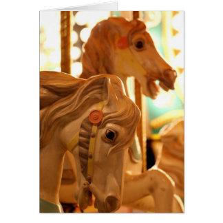 Merry Go Round Horses Card