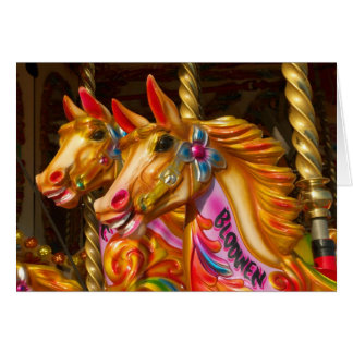 Merry-go-round Horses Greeting Card