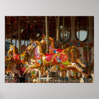 Merry-go-round Horses Posters