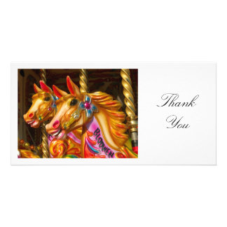 Merry-go-round Horses - Thank You Photo Greeting Card