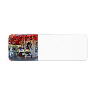 Merry-Go-Round in Motion Return Address Label