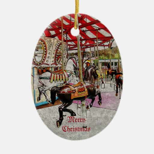 merry-go-round ornament vintage styled